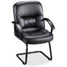 LLR 60114 Lorell Tufted Leather Executive Guest Chair LLR60114