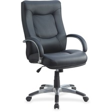 LLR60505 - Lorell Stonebridge Leather Executive High-Back Chair