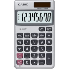 CSO SL300SV Casio SL300 8-Digit Handheld Calculator CSOSL300SV