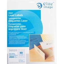 ELI 26020 Elite Image Clear Address Laser Labels ELI26020