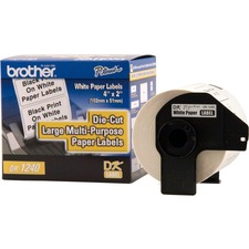 BRT DK1240 Brother P-touch Die-cut Large MP Paper Labels BRTDK1240