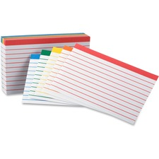 OXF 04753 Oxford Color Coded Bar Ruling Index Cards OXF04753