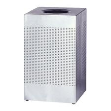 RCP SC14SSPL Rubbermaid Stainless Steel Hinged Top Receptacle RCPSC14SSPL