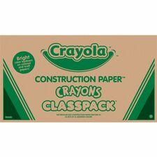 CYO 521617 Crayola Construction Paper Classpack Crayons CYO521617