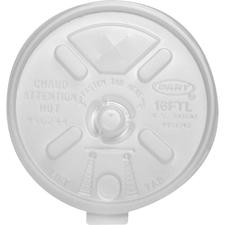DCC 16FTLS Dart Lift-n-lock 16-oz. Foam Cup Lid DCC16FTLS