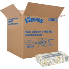"Kleenex Facial Tissue - 2 Ply - 8.4"" x 8.4"" - White - Soft, Absorbent - For Healthcare - 125 Per Box - 1500 / Carton"