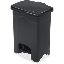 SAF 9710BL Safco Plastic Step-on 4-Gallon Receptacle SAF9710BL
