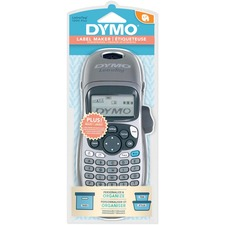 "Dymo LetraTag Plus Kit - Direct Thermal - Label, Tape - 0.50"" (12.70 mm) - Battery - 4 Batteries Supported - AA - Alkaline - Silver - Handheld - Repeat Printing, ABCD Keyboard, Tape Cutter"