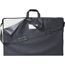 "Quartet Carrying Case Presentation Easel - Black - Canvas - Handle, Shoulder Strap - 3"" (76.20 mm) Height x 30.50"" (774.70 mm) Width x 18.50"" (469.90 mm) Depth"