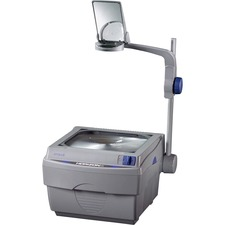 "Apollo® Horizon 2 Overhead Projector, 2000 Lumen Output, 10"" x 10"", Open Head - Open - Doublet - 2000 lm - Gray"