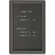 QRT 2963LM Quartet Single Glass Magnetic Message Board QRT2963LM