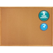 QRT 303 Quartet Oak Frame Standard Cork Bulletin Boards QRT303