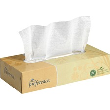 GPC 48100BX Georgia Pacific Preference Flat Box Facial Tissue GPC48100BX