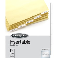 WLJ 54310 Acco/Wilson Jones Insertable Tab Indexes WLJ54310