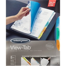 WLJ 55565 Acco/Wilson Jones View-Tab Transparent Dividers WLJ55565