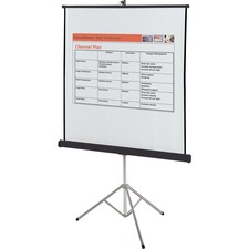"Quartet Manual Projection Screen - 1:1 - Surface Mount - 70"" x 70"" - Matte White"