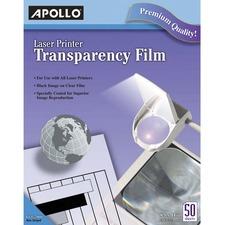 APOCG7060 - Apollo® Laser Printer Transparency Film, 50 Sheets