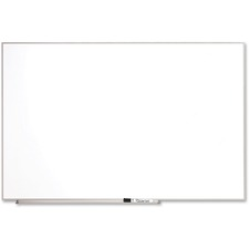 "Quartet Matrix Aluminum Frame Magnetic Whiteboard - 31"" (787.40 mm) Height x 48"" (1219.20 mm) Width - White Natural Cork Surface - Silver Aluminum Frame - 1 Each"