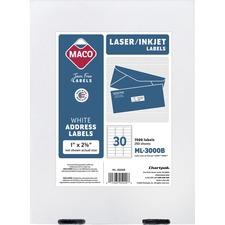 MAC ML3000B Maco Laser/Ink Jet Mailing Labels MACML3000B