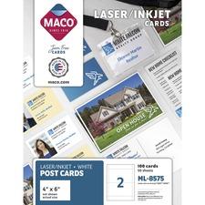 MAC ML8575 Maco 2-Up Laser/Inkjet Post Cards MACML8575