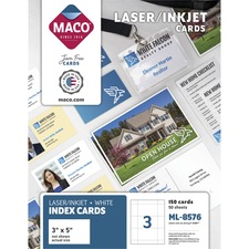 "MAC ML8576 Maco Laser/Inkjet 5""x3"" Cards MACML8576"