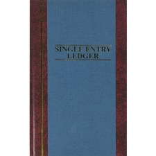 WLJ S30015SEL Acco/Wilson Jones S300 Single Entry Ledger Book WLJS30015SEL