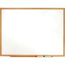 QRT S577 Quartet Oak Frame Standard Marker Board QRTS577