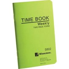 WLJ S802 Acco/Wilson Jones Foreman's Pocket Size Time Books WLJS802