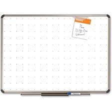 "Quartet® Prestige® Total Erase®Whiteboard, 18"" x 24"", Euro? Frame, Writing Grid"