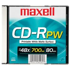 MAX 648721 Maxell Printable White Surface CD-R MAX648721