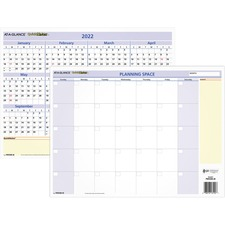 AAGPM550B28 - At-A-Glance Quicknotes Mini Erasable Yearly Wall Planner