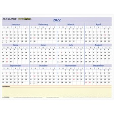 AAG PM550B28 At-A-Glance QN Compact Erasable Wall Calendar AAGPM550B28
