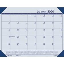 HOD 12440 Doolittle EcoTones Monthly Calendar Desk Pad HOD12440