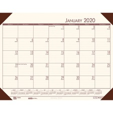 HOD 12441 Doolittle Ecotones Compact Calendar Desk Pads HOD12441