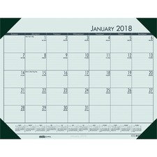 HOD 12471 Doolittle Ecotones Compact Calendar Desk Pads HOD12471