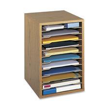 SAF 9419MO Safco Adjustable Vertical Wood Shelf Organizer SAF9419MO