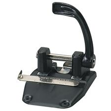 "Master Two-Hole Punch - 2 Punch Head(s) - 40 Sheet Capacity - 9/32"" Punch Size - Round Shape - Black"