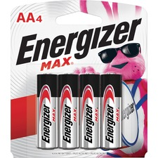 Energizer MAX Alkaline AA Batteries, 4 Pack - For Multipurpose - AA - 1.5 V DC - 1150 mAh - Alkaline - 4 / Pack