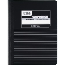 MEA 09920 Mead Square Deal Black Marble Journal MEA09920