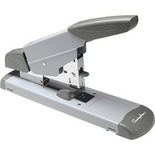 Swingline Heavy-Duty Stapler - 160 Sheets Capacity - 210 Staple Capacity - Full Strip - Platinum