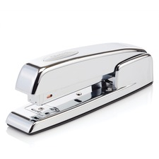 "Swingline 747 Polished Chrome Stapler - 25 Sheets Capacity - 210 Staple Capacity - Full Strip - 1/4"" Staple Size - Silver Chrome"