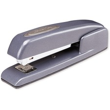 "Swingline 747 Ergonomic Business Stapler - 20 Sheets Capacity - 210 Staple Capacity - Full Strip - 1/4"" Staple Size - Gunmetal Blue"
