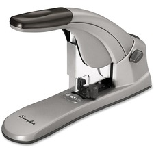 "Swingline Heavy-Duty Easy Touch Desk Stapler - 120 Sheets Capacity - 210 Staple Capacity - Full Strip - 5/8"" Staple Size - Gray"