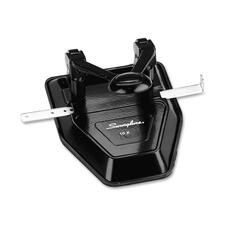 "Swingline Two-Hole Punch - 2 Punch Head(s) - 28 Sheet Capacity - 1/4"" Punch Size - Round Shape - Black"