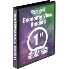 SAM 18530 Samsill Economy Round Ring View Binders SAM18530