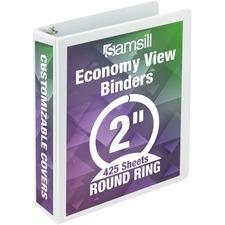 SAM 18567 Samsill Economy Round Ring View Binders SAM18567