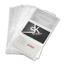 SAM 81079 Samsill Clear Business Card Refill Pages SAM81079