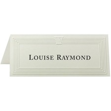 FST 71419 First Base Capital Design Embossed Place Cards FST71419
