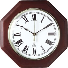 ILC 67207010 Chicago Lighthouse Octagon Mahogany Frame Clock ILC67207010