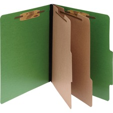 ACC15665 - ACCO® ColorLife® PRESSTEX® 6-Part Classification Folders, Letter, Dark Green, Box of 10